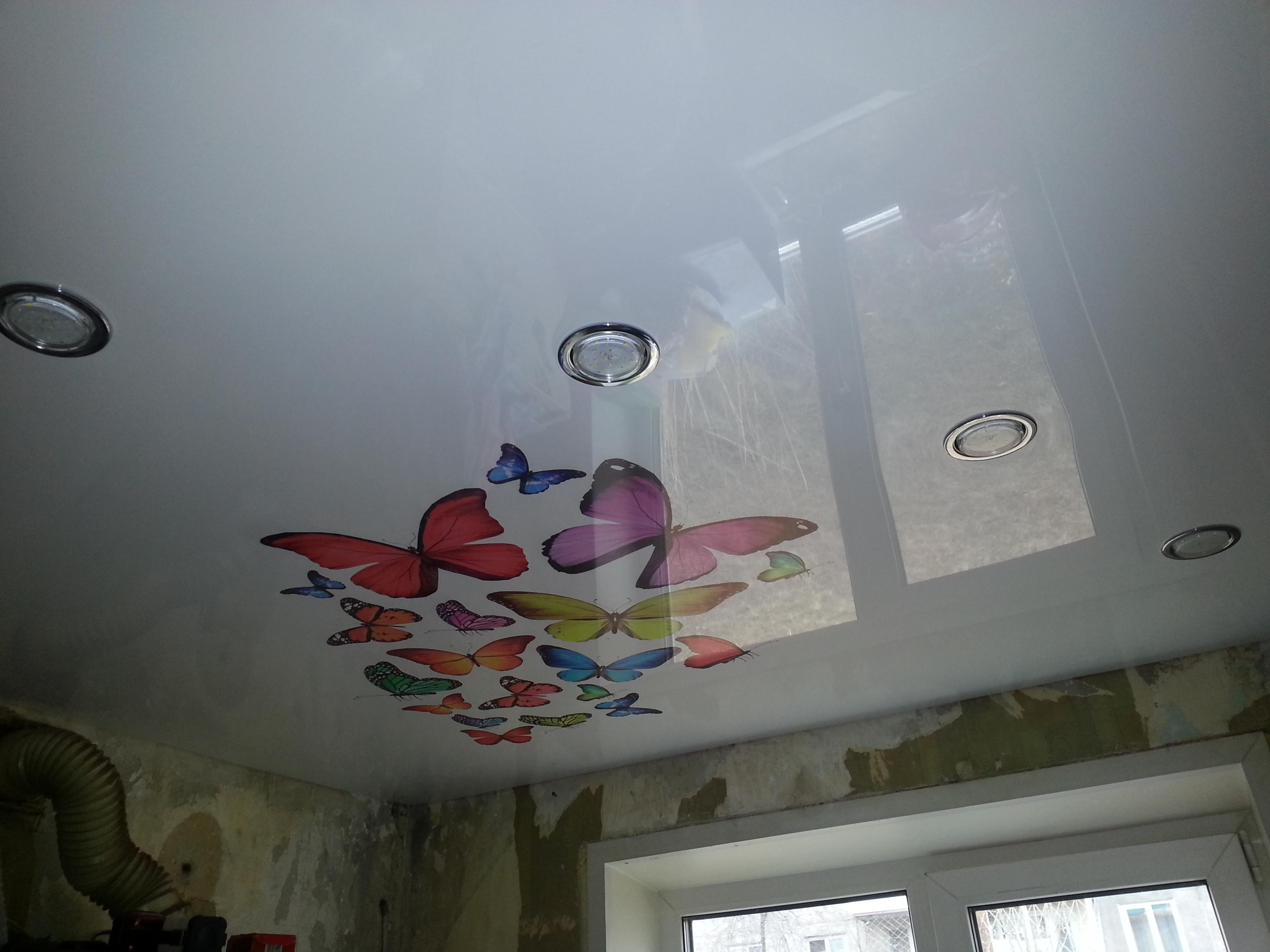 потолки натяжные с фотопечатью фото